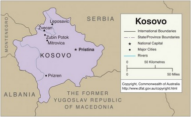 Map of the Kosovo Republic