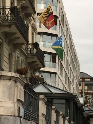 Solomon islands flag, jean-paul carteron, crans montana forum, monaco ambassadors club, monte-carlo, african women forum, monaco, ambassador carteron, unesco, geneva